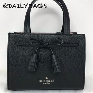 BAG KATE SPADE MINI HAYES BLACK LEATHER CROSSBODY
